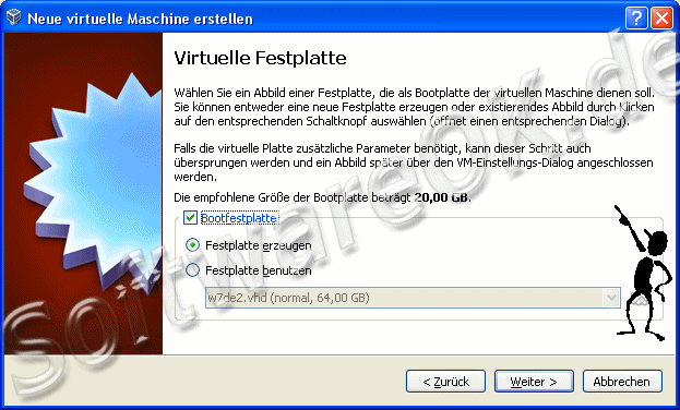 Virtuelle Festplatte für Windows-8