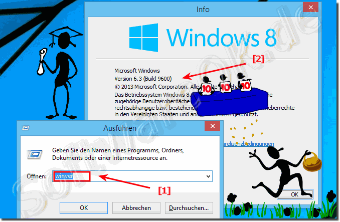 WinVer in Windows 8.1 oder 8.0 anzeigen!