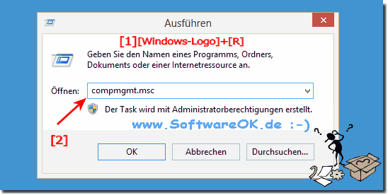 Windows-8 Computerverwaltung starten