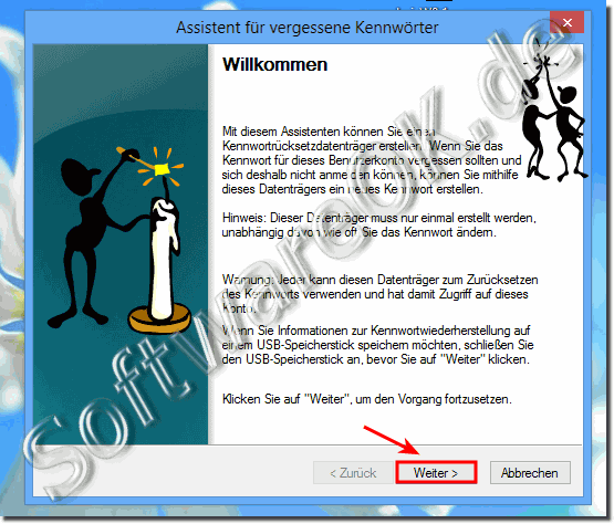 Windows 8.1 / 8 Assistent f�r vergessene Kennw�rtert!