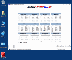 Kleiner Kalender am Windows Desktop