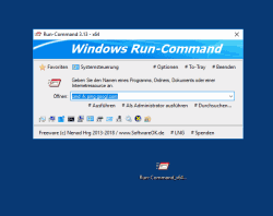 Alternative zum Ausf�hren Dialog von Windows