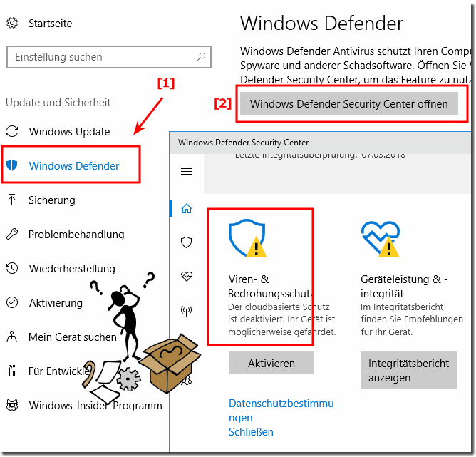 Windows-10 Ordner Schutz!