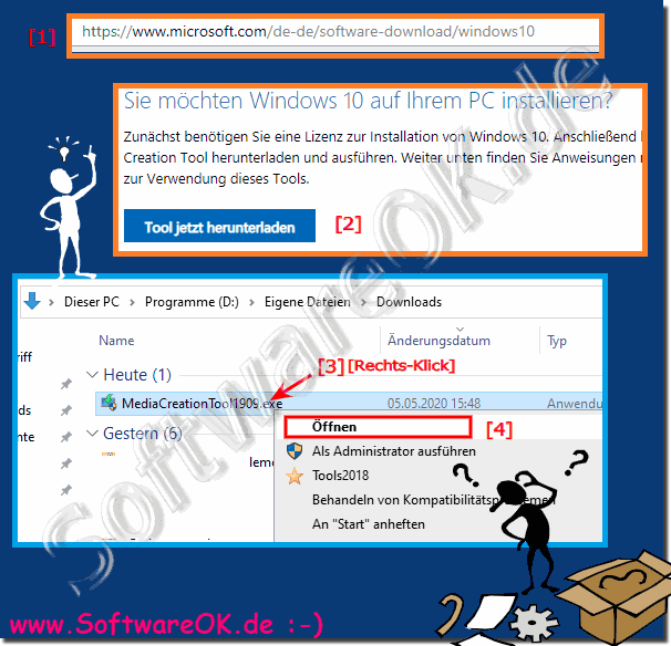 Windows 10, 8.1, ... ISOs legal herunterladen?