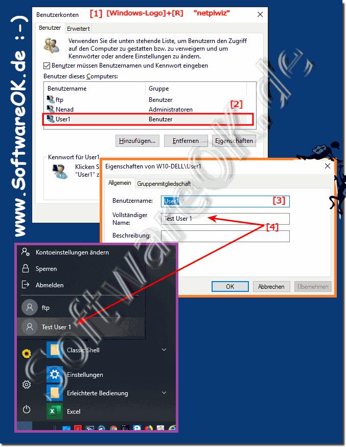 Windows 10 konto namen ändern