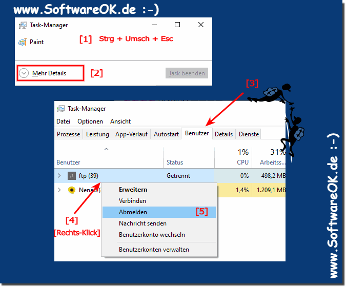 Windows 10 Abmeldung erzwingen!