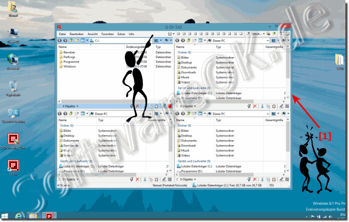 Dateimanager Q-Dir für Windows-8.1 (Explorer, test)