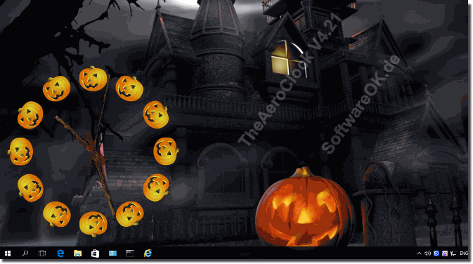 Windows Desktop Uhr für Halloween!