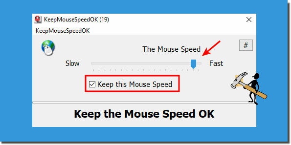 Keep the Mouse Speed for Windows!
