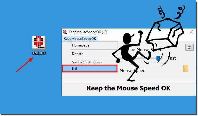 Unistall KeepMouseSpeedOK from Windows!