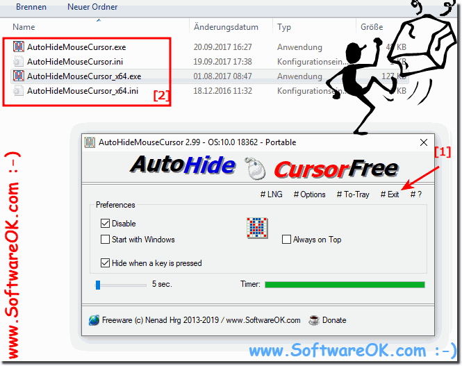 Remove auto hide mouse cursor from Windows!