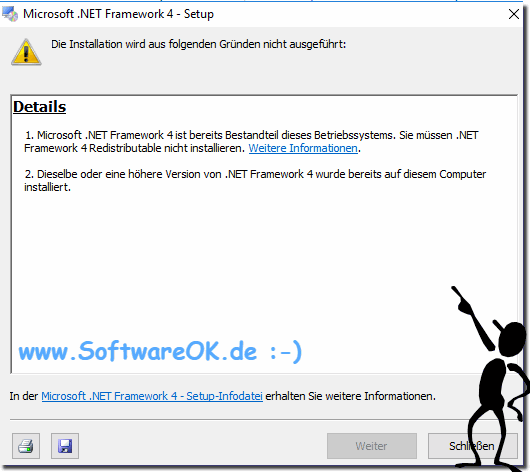 Windows NET-Framework auf Windows 10!