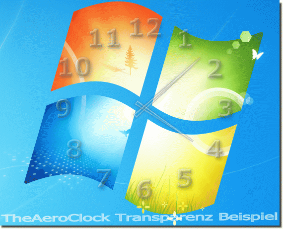 Alpha-Transparenz unter Windows mit TheAeroClock!