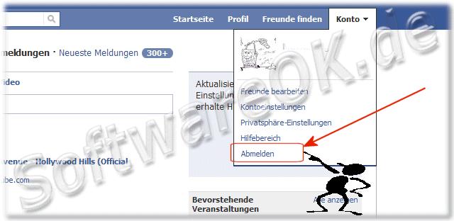 facebook abmelden konto löschen