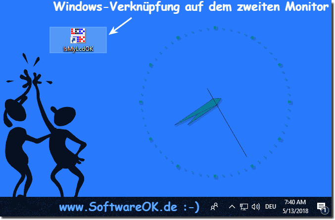 Am Zweiten Windows Monitor Pixeltest!