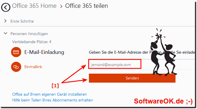 MS Office 365 E-Mail Einladung!