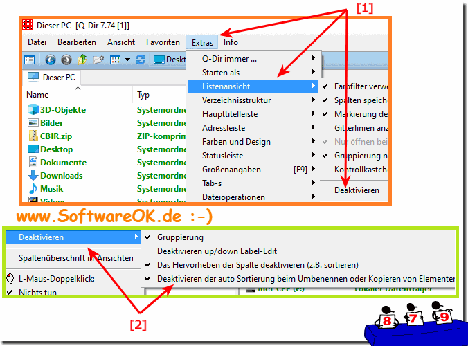 Soft-Refresh in der Quad-Explorer-Listenansicht!