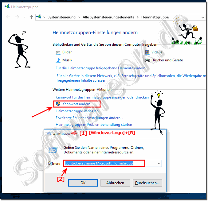Ändern des Heimnetzgruppe Kennworts in Windows-10!