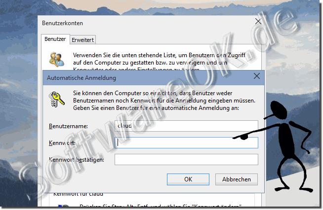 Deaktivieren anmeldung 10 windows automatische Automatische Benutzeranmeldung
