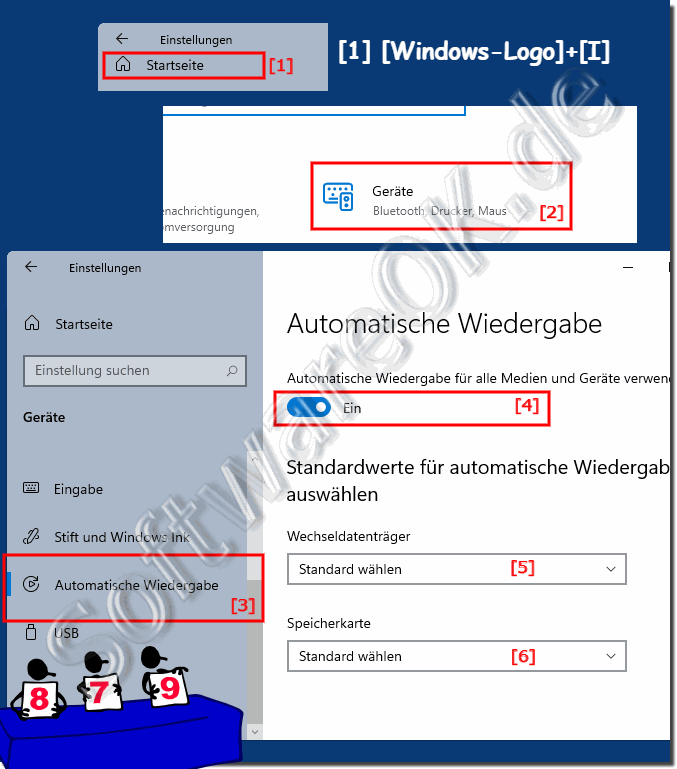 Autoplay-Einstellungen in Windows-10!
