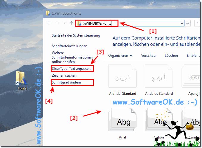 schriftarten installieren windows 10
