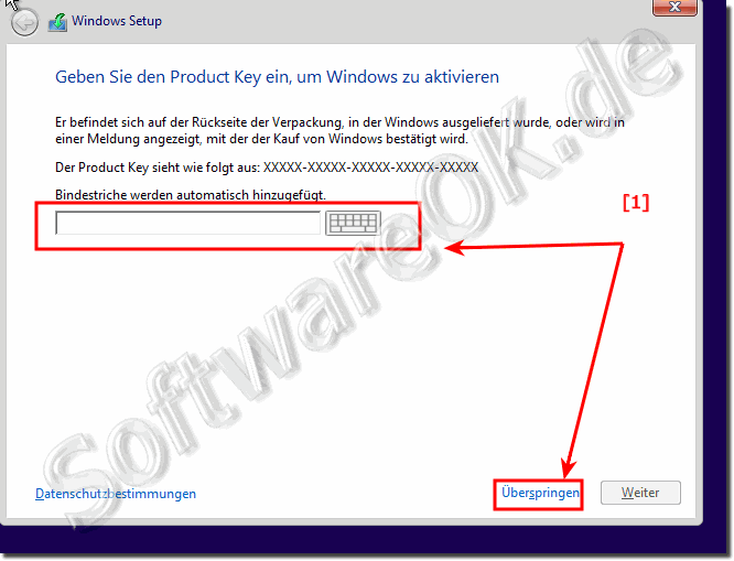 Installation von Windows-10 ohne Seriennummer!