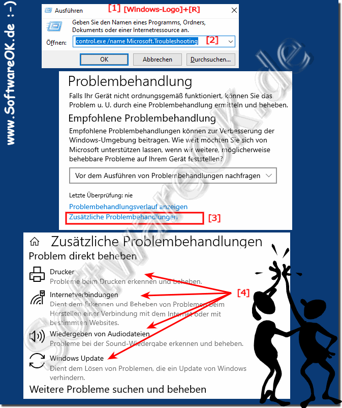 Problembehandlung in Windows-10 bei Computerproblemen!