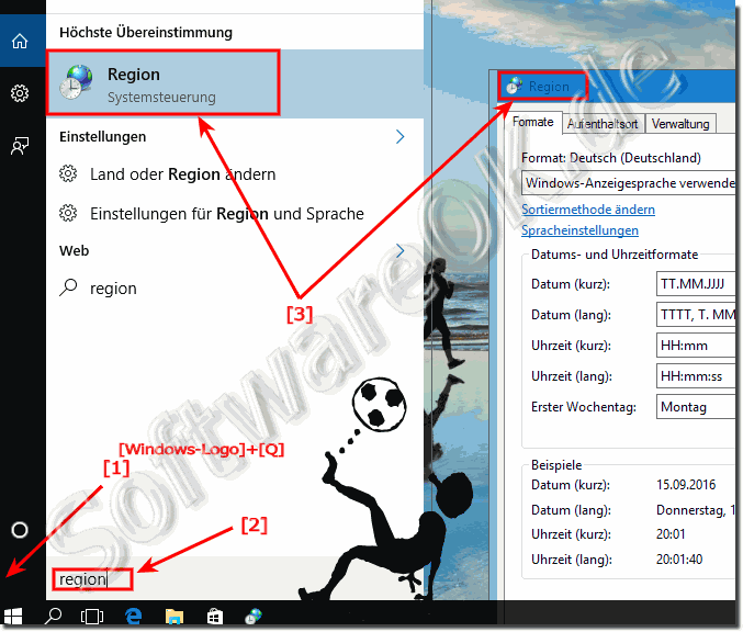Regionale Einstellungen in Windows-10 ändern!