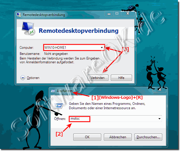 Remote Desktop Verbindung mit Windows-10 Home PC!