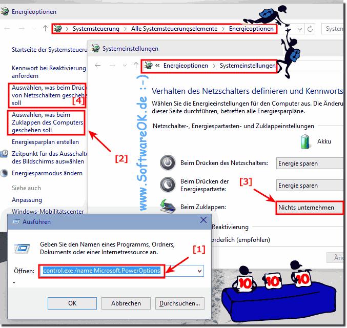 laptop beim zuklappen nicht ausschalten windows 10