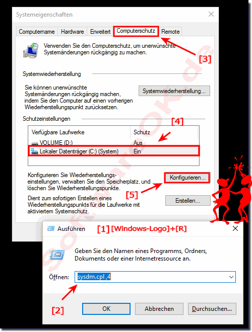 Windows-10-Computerschutz-Systemänderungen rückgängig!