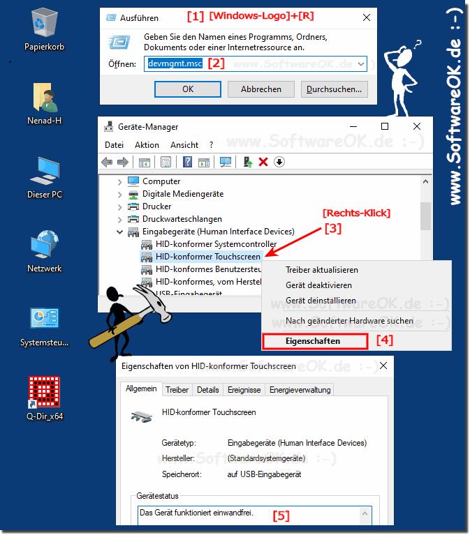 Windows-10 Touch Screen Kalibrierung bei Tablets und PCs finden?