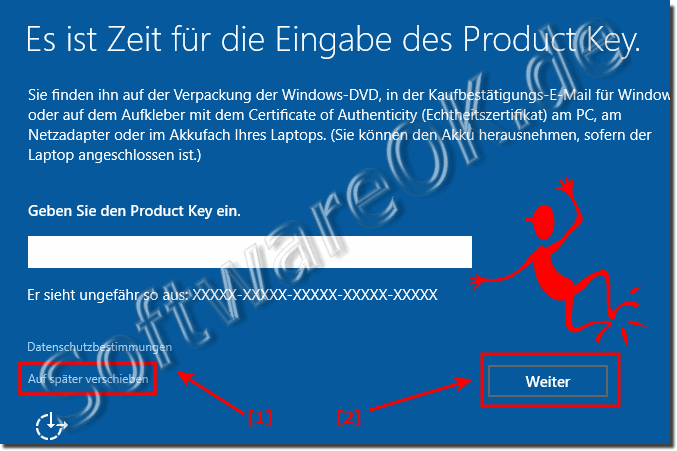 Windows 10 ohne Produkt Key Installieren!