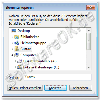 Elemente kopieren in Windows
