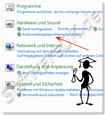 Audioeffekte und Audiowidergabeprobleme behandeln in Windows-7!