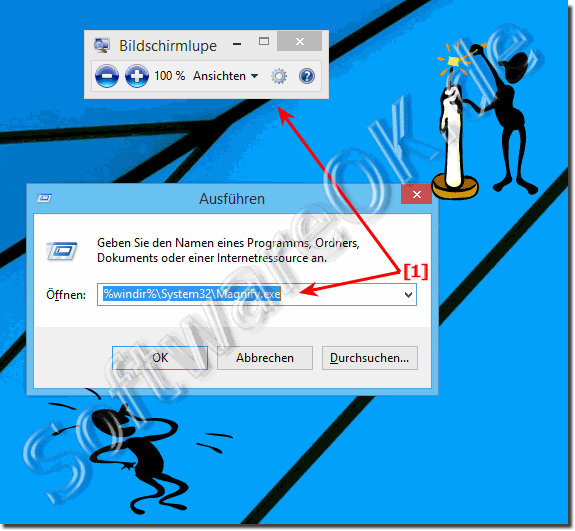 Bildschirmlupe in Windows 8.1!