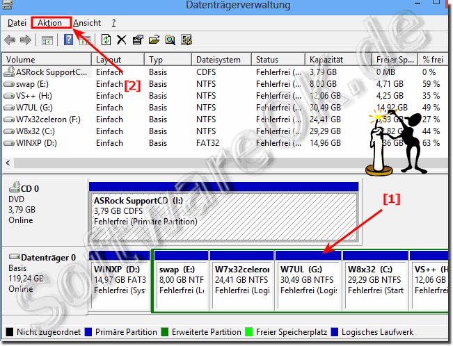 Kann Man Windows 8 8 1 10 Partitionen Anzeigen Und Loschen