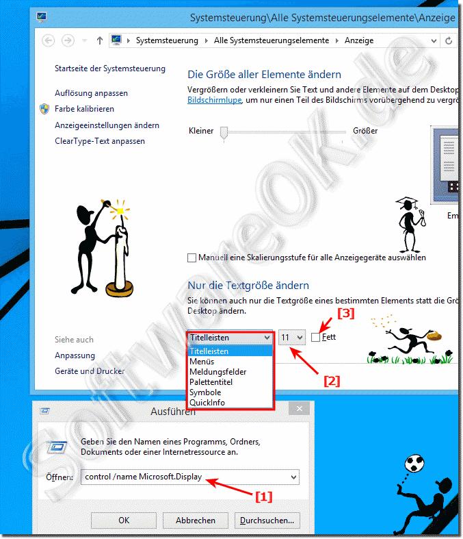 Bei Windows 8110 Schriftgröße Und Schriftart ändern
