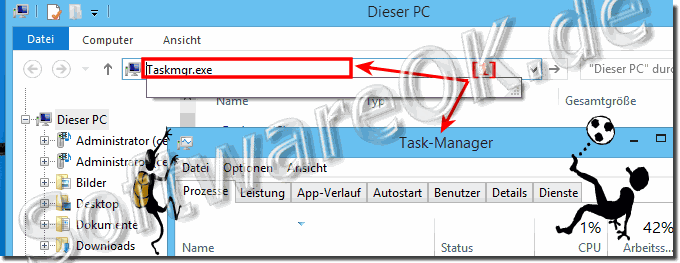 Task-Manager Starten via MS-Explorer in Windows 8.1/8!