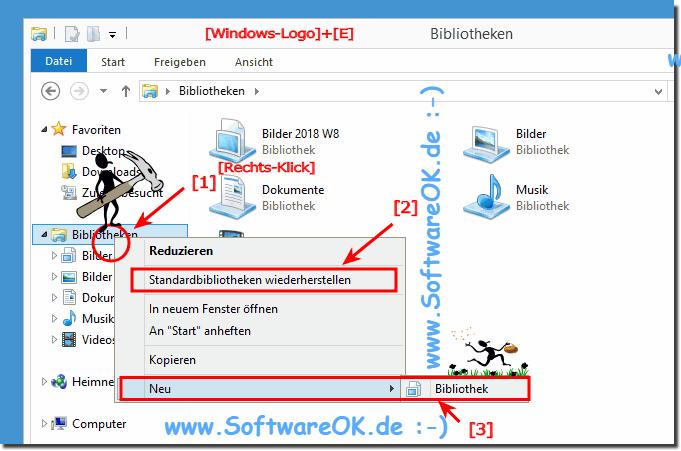 Windows 10 Bibliotheken Löschen