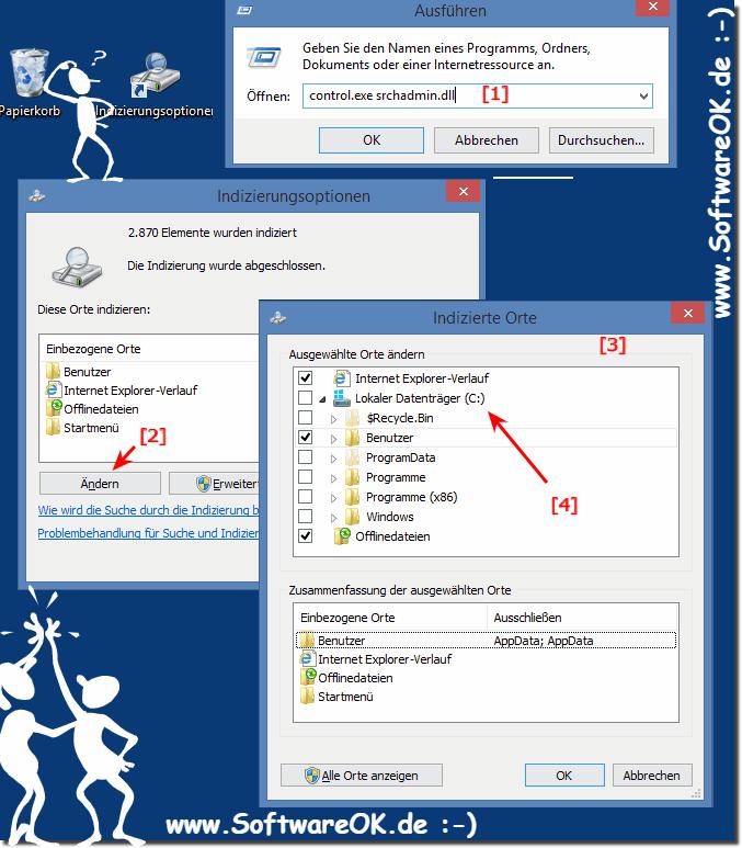 falsche berechtigungen für windows search verzeichnisse