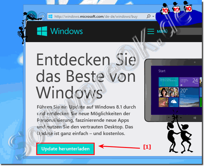 Windows 8 auf Windows 8.1 Kostenlos Update bzw. Upgraden!