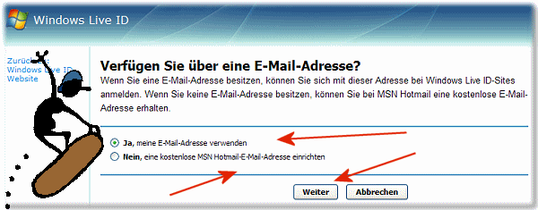 Windows Live ID E-Mail