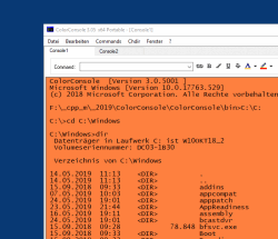 ColorConsole 2 Alternative cmd.exe unter Windows 10 in Oranger Farbe