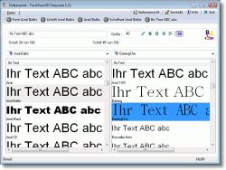 FontViewOK - Windows Schriften Übersicht und Vergleiche