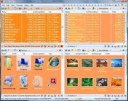 Q-Dir orange theme in Vista